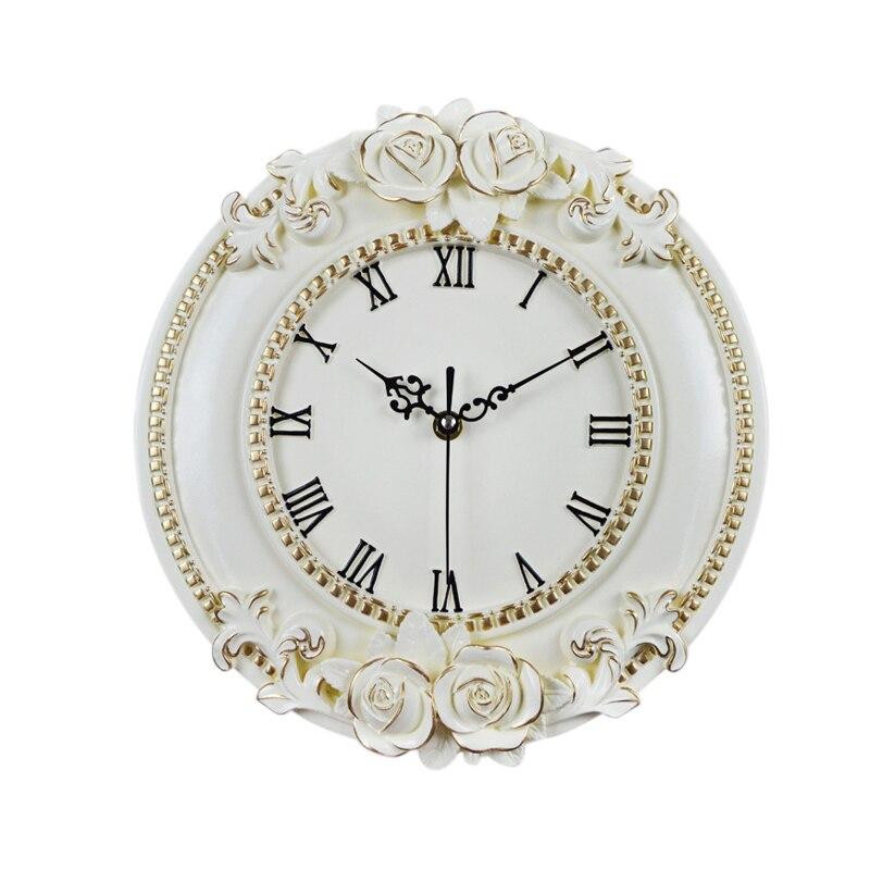 Креативные полимерные ремесленные розы европейские декоративные цифровые настенные часы Тихая комната часы Отель Ресторан украшения
