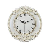 A Creative Resin Craft Rose flower European Decorative Digital Wall Clock Quiet Room Clock Hotel Restaurant Decoration