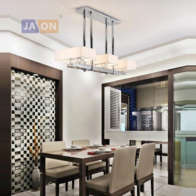 Led e14 postmoderna cristal De hierro cromo lámpara iluminación Lamparas  Techo suspensión luminaria Lampen para comedor habitación