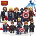 Marver bloque de construcción super heroes IronMan Hawkeye Thor Capitán América Negro Viuda Winter Soldier ladrillos com. legoeinglys. juguetes