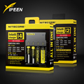 Marca Nitecore I4 I2 Digicharger LCD Circuito Inteligente de iões de lítio para 26650 18650 18350 16340 14500 10440 Carregador de Bateria de Carro