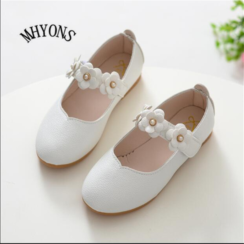 2018 New Spring Cute Cat Children's Footwear Princess Infant Girl Shoes With Bowknot PU Children Shoes Girls Toddler Flat Shoes