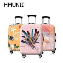 HMUNII Brand Fashion Travel Thicken Elastic Luggage Suitcase Protective Cover, Apply to 18-32inch Cases, Travel Accessories 2018