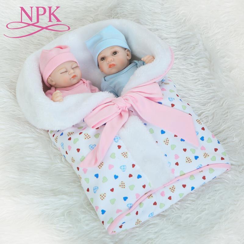 NPK 26 CM corps entier Silicone Reborn bébé poupée fille et garçon enfants jouer maison jeu bain jouet doux réel doux toucher réaliste Reborn