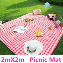 Mata piknikowa 200*200cm Camping Moistureproof Outdoor Baby Climb Plaid koc Yoga 600D Oxford Pad