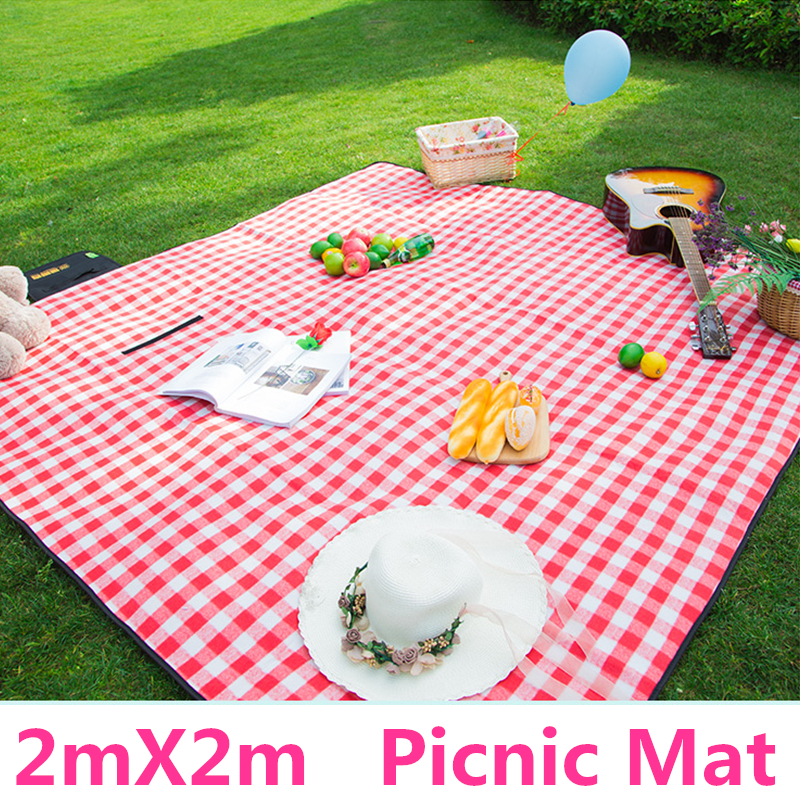 Picnic Mats 200*200cm Camping Moistureproof Outdoor Beach Mat Baby Climb Plaid Blanket Beach Yoga Baby 600D Oxford pad-in Camping Mat from Sports & Entertainment