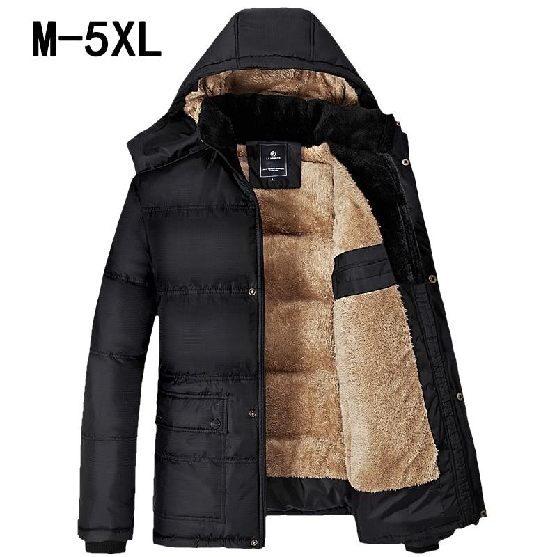 Chaud coton rembourré vêtements marque grande taille hommes vestes et manteaux M-9XL vestes hommes vêtements d'extérieur hiver hommes vêtements