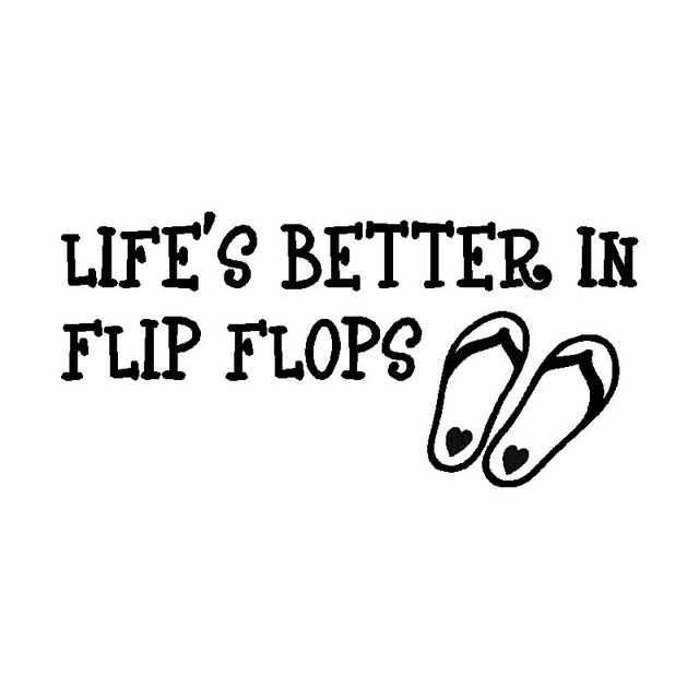 229cm11cm Lifes Better In Flip Flops Fun Unique Graphic Decal
