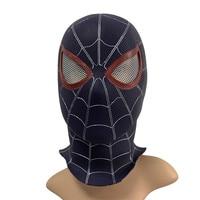 Avengers Endgame 4 superhero masks Spiderman Cosplay PVC Mask black spider man Full Head Adult Party Halloween Costume Props