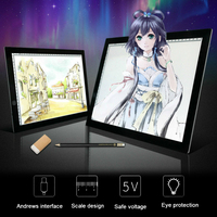 1PC A4 Ultra Thin LED Light Copy Drawing Board Painting Desk Touch Type Animation Copy Tracing
