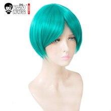 HSIU Hoseki no Kuni Cosplay Wig Phosphophyllite Land of the Lustrous Costume Play Woman short Adult Halloween Anime Hair wigs