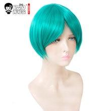 HSIU Hoseki no Kuni peluca Cosplay de fosfofillite, disfraz de Land of the Lustrous para mujer, peluca de pelo de Anime de Halloween para adulto corto