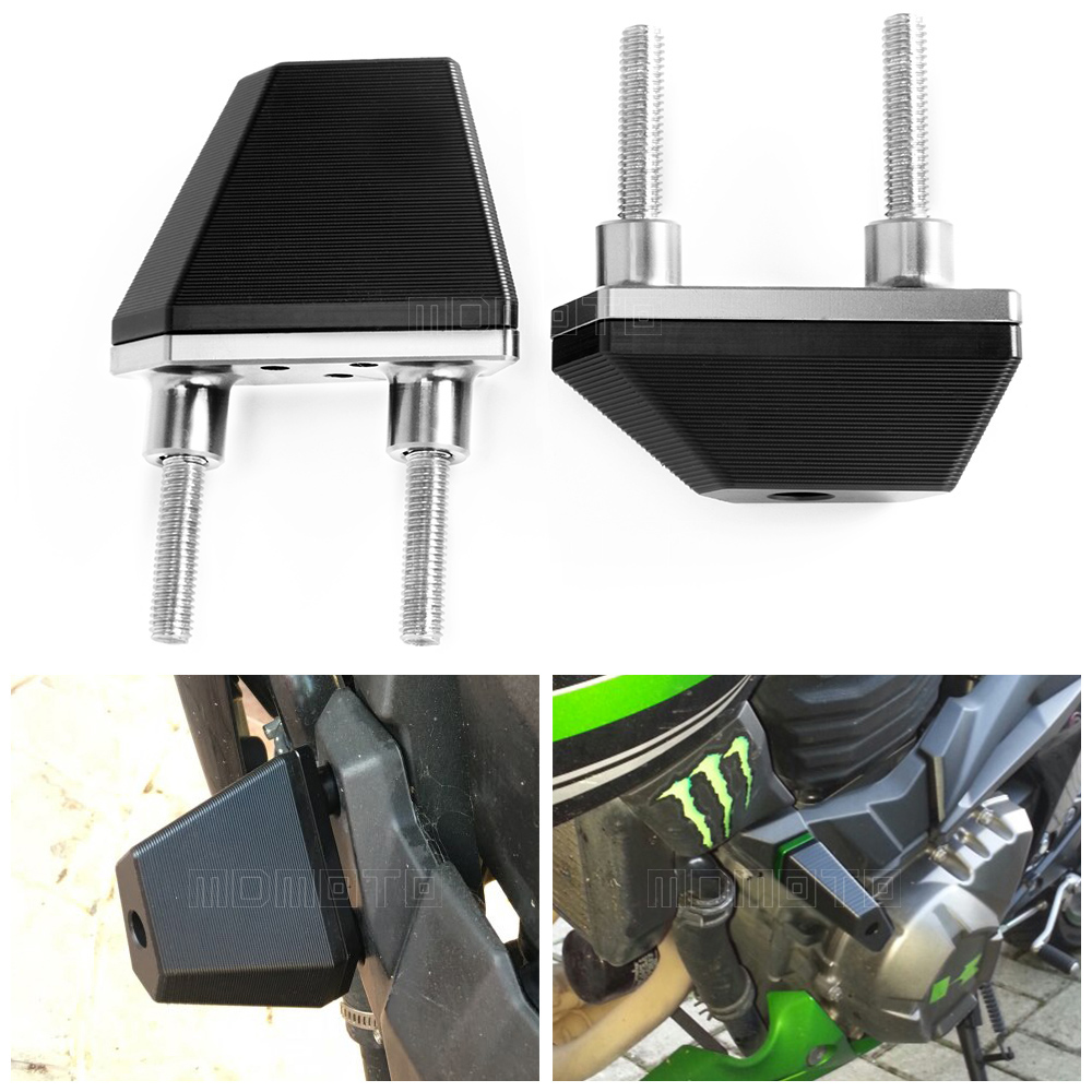 motorcycle engine protector guard cover left&right frame sliders protection stand screws cover for kawasaki Z750 Z 750 2004-2014