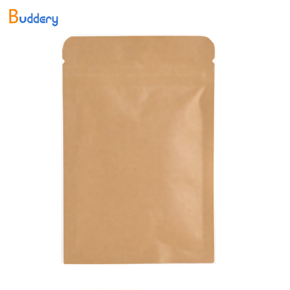 Paper Gift Bags Wholesale 100pcs Wholesale Resealable Brown Kraft Paper Bags With Window For