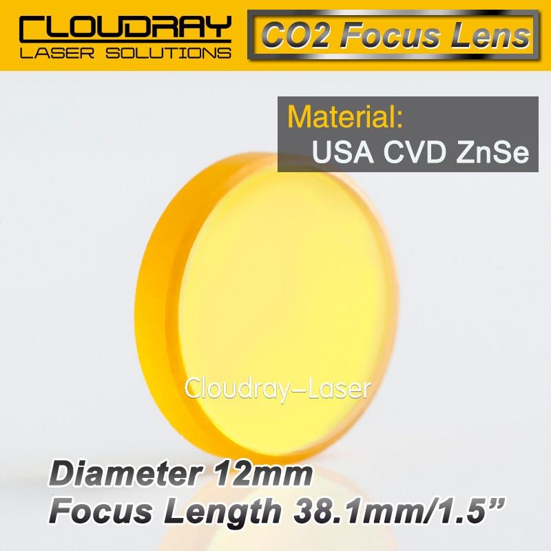 USA CVD ZnSe Focus Lens Dia. 12mm FL 38.1mm 1.5