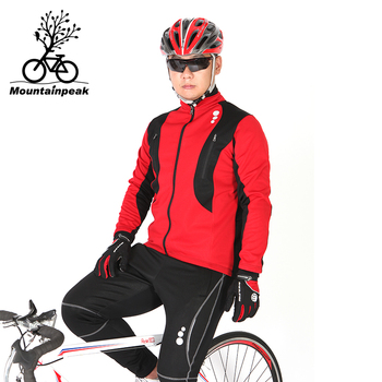 Mountainpeak Winter Riding Suit with Super Strong Wind and Wind Down The Bike Riding Clothes Cycling Jersey Set Men