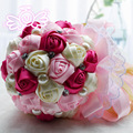 Europe And The United States Bride Holding Flower Ribbon Blending High-grade Pearl Embellishment Elegant Wedding Bouquet