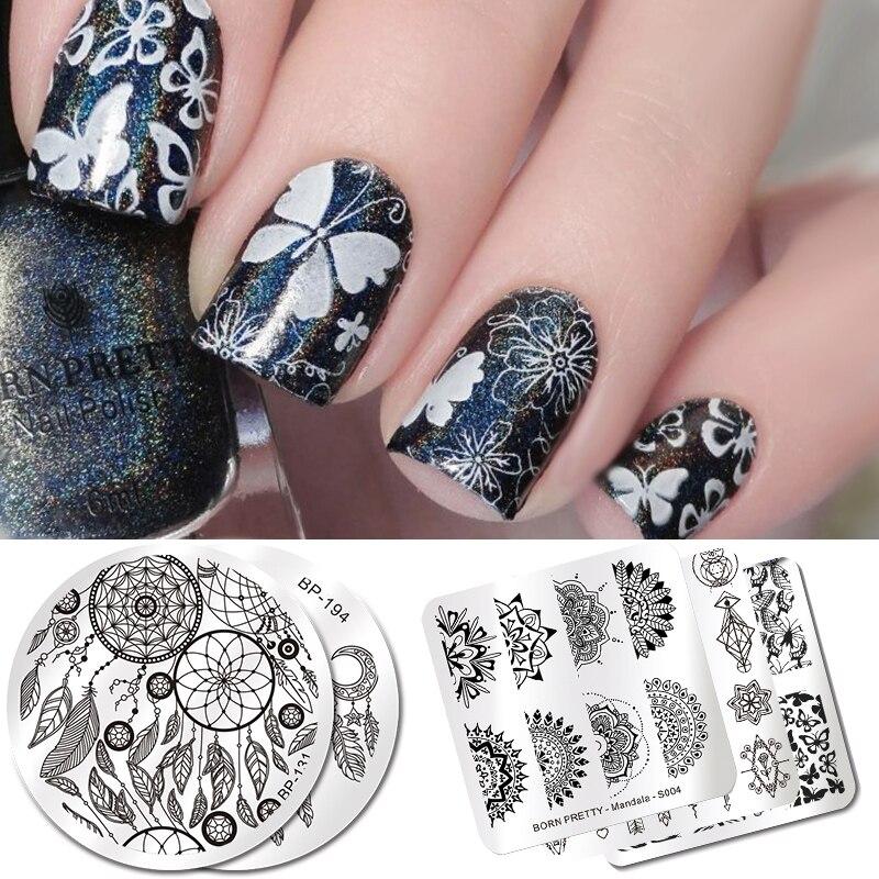 Geometric Reverse Stamping Nail Art Born Pretty Review: BORN PRETTY Christmas Fairy Princess Dwarf Stamping