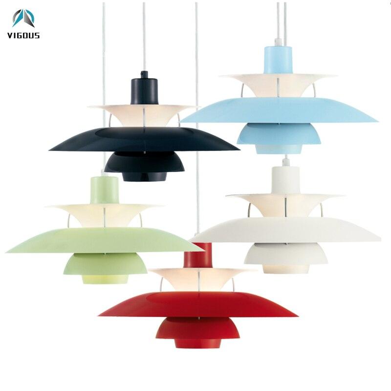 Nordique E27 pendentif Led lumière coloré parapluie Led suspendre lampe salle à manger pendentif Led lampe Led lampara luminaires - 4
