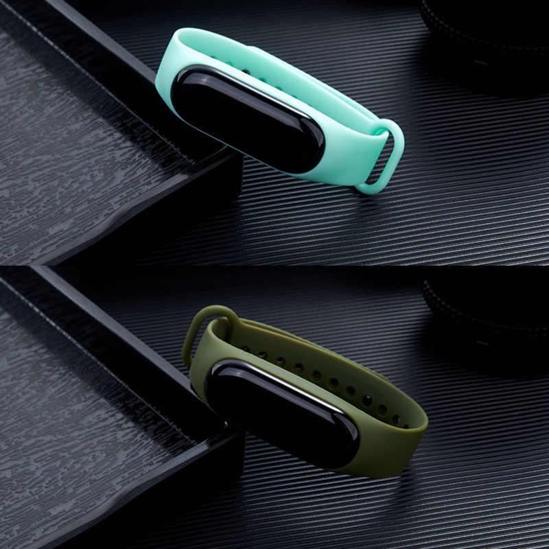 Для Xiao mi Band 4 3 ремешок для часов мягкий резиновый mate Кнопка Пряжка ремешок для Xiao mi Band mi 3 ремешок для часов horlogs banje