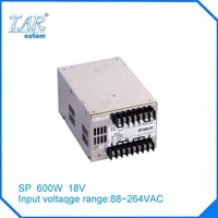 New arrival high quality 18V 40A 600W Switching Power Supply Driver for LED Strip AC 100 240V Input to DC 18V free shipping