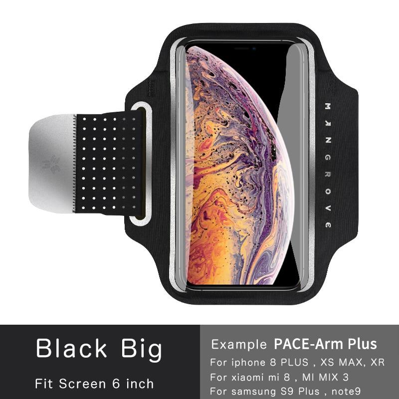 Transparent touchscreen Armband Lauf handy arm pack Sport Arm tasche arm tasche Fitness Universal telefon Arm Band fall