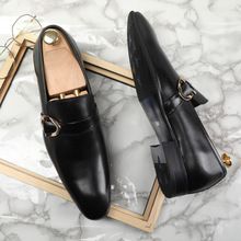 QYFCIOUFU 2019 Handmade buckle Fashion formal shoes Wedding Brand Male Double Monk Shoe Genuine Leather Mens oxford Dress Shoes