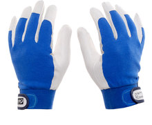 Free transport 2 pairs high quality real leather-based working gloves palm leather-based and fiber again security defending gloves elastic cuff.