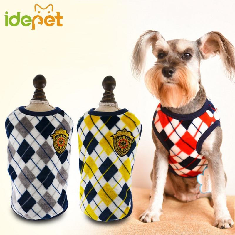 Pet kutya ruhák kutyákhoz Flannel nyomtatott kutya kabát kabát - Pet termékek