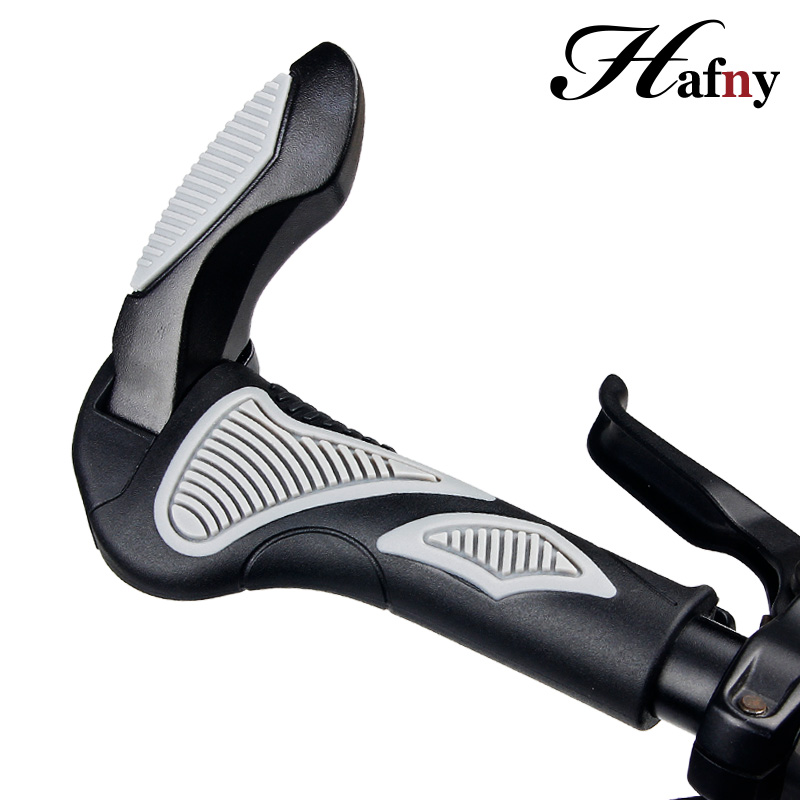 Hafny Taiwan Brand Bicycle Handlebar Grips Bar Ends Caps BMX MTB Road Bike Grips Cycling Handle Aluminum Rubber Bicycle Grips 7 colors cnc aluminum universal motorcycle handlebar grips ends bar ends grips handlebar caps for kawasaki z750 yamaha honda ktm
