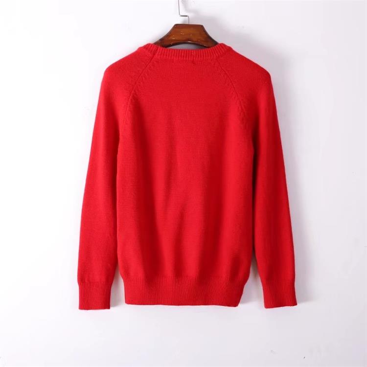 HTB1e6RCa6qhSKJjSspnq6A79XXaH - BLIND FOR LOVE Women Embroidery Sweaters Red Christmas Long Sleeve O Neck Floral Bee Sweater PTC 299
