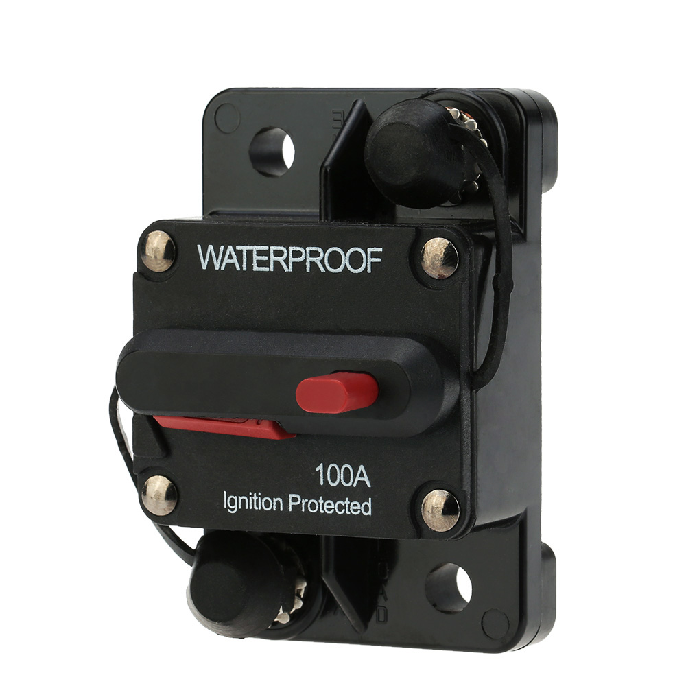 Waterproof 100Amp Circuit Breaker Overload Protection with Manual Reset Switch for Car Bus Truck Caravan Boat F433-100A