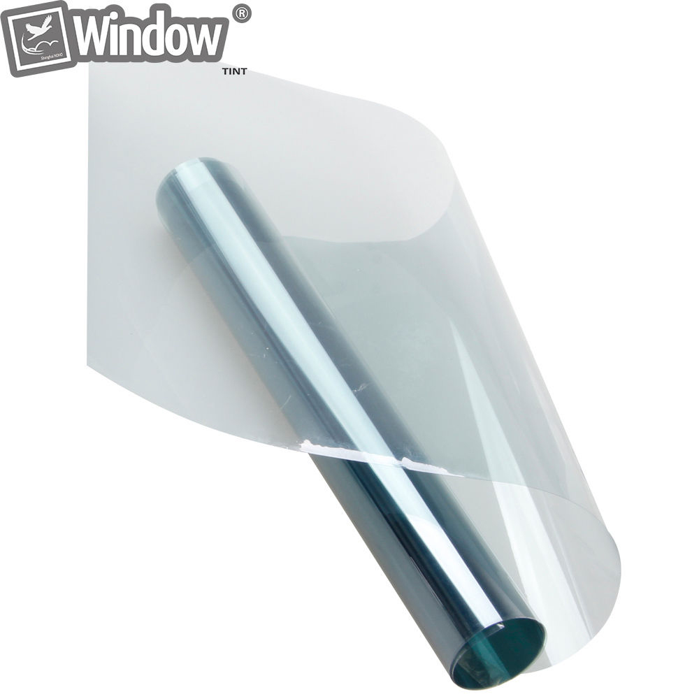 1 52x20m Car Window Tinting Light Blue Window Tint 75 VLT Solar Film Roll Privacy Sticker