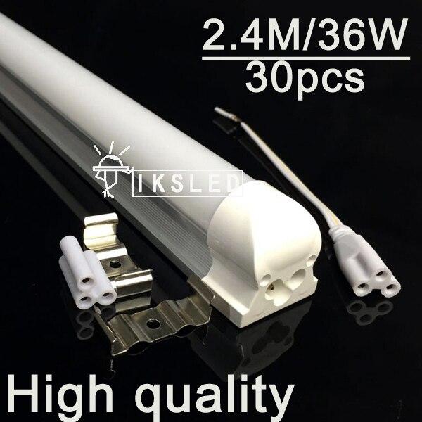 T8 integrated led SMD2835 supermarket 2.4m tube 30pcs T8 integrated tube 8ft 2400mmT8 LED Tube Light 8ft 2400mm 2.4m SMD2835 2016 integrated led tube light t5 900mm 3ft led lamp epistar smd 2835 11watt ac110 240v 72leds 1350lm 25pcs lot