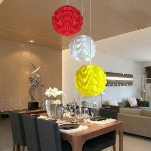 Modern minimalis PVC plastik gelombang chandelier pribadi busana indah fashion restaurant restaurant lampu meja