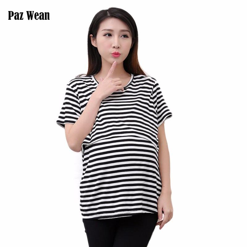 Sommar gravid översta mödrar matande toppar t-shirt nursing skjorta för amning tee graviditet t-shirt för utfodring baby skjorta