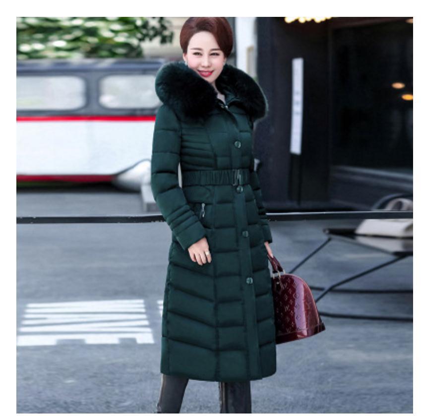Épaississent Le Taille bleu Plus vert 5xl Mujer Col Veste Manteau De Fourrure Noir Chaqueta Coton D'hiver Rembourré longue Vers Parka X La 2018 rouge Bas Femmes qSEUxwd88g