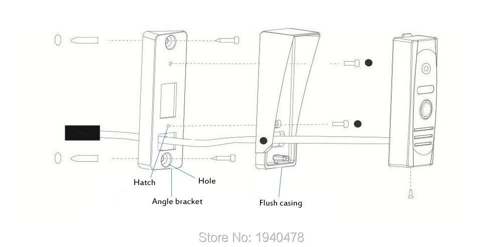 Homefong 7 Zoll Farbe LCD Video-türsprechanlage Sprechanlage ...