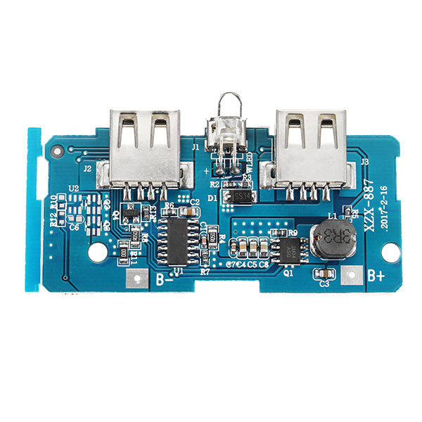 3.7V To 5V 1A 2A Boost Module DIY Power Bank Mainboard Circuit Board Built In 18650 Battery Protection Voltage Protection
