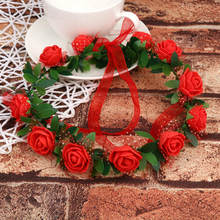 Adult Kids Artificial Flower Garland Wreath Headdress Band Hair Hoop Headband Bride Princess Crown Birthday Wedding Decoration(China)