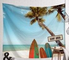 Cammitever Zomer Strand Sport Surf Board Muur Opknoping Wandtapijten Blue Sky Decoratieve Muur Yoga Matten
