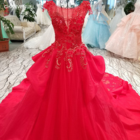 LS00339 1 Long Red Evening Dress Prom Dresses 2017 Luxury Ever Pretty Illusion Formal Dress Vestido