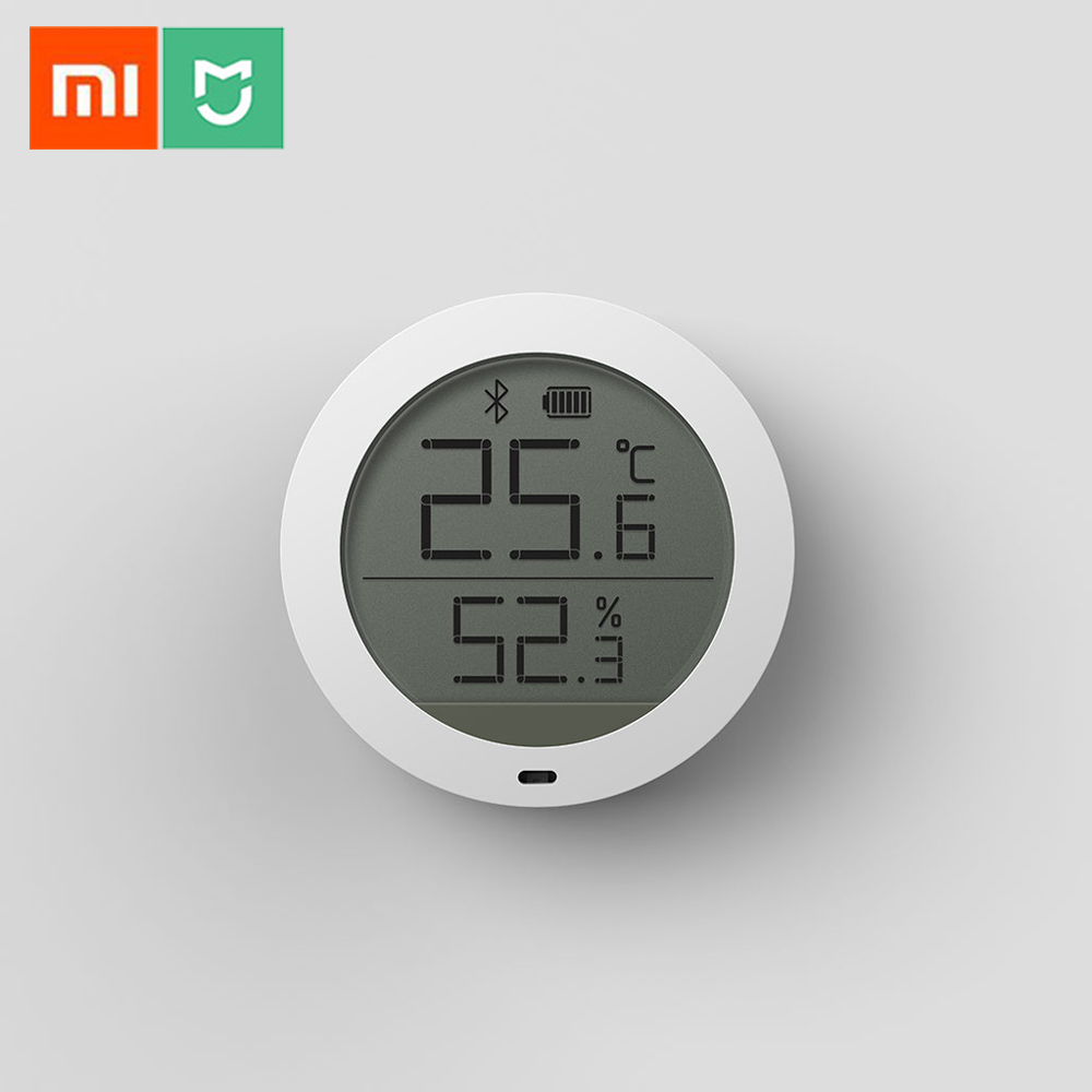 100%Xiaomi Mijia Bluetooth Temperature Smart Humidity Sensor LCD Screen Digital Thermometer Moisture Meter Mi APP clear lcd screen digital thermometer white