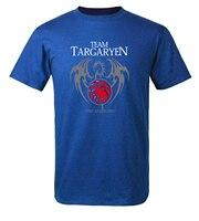 2018 Summer Men Short Sleeve Shirt 100 Cotton Male T Shirts Game Of Thrones Targaryen Fire