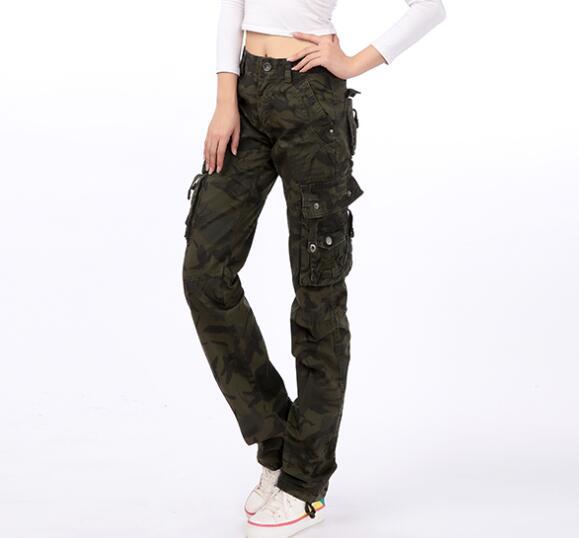 Coton Pour Mélangé Automne Les Wlk0702 Cargo Droit P1 Printemps Taille Pantalon Camouflage p2 De La Femmes Nouvelle Haute En Mode Plus Zf6w5wqOx