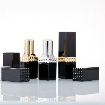Unique Design 12.1mm Square Black Tube, Eco Lip Balm Container