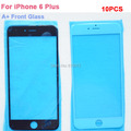 """10 шт. класса а + замена стекло объектива для iPhone 6 г плюс 5.5 """" переднее стекло замена черный белый"""