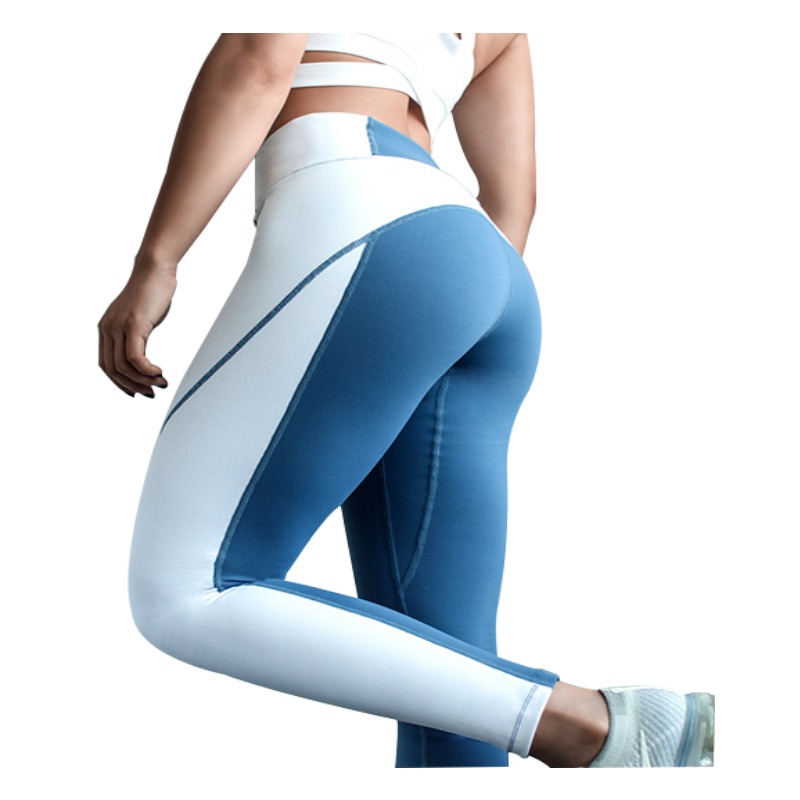 32d2e9818 Mallas de cintura alta para mujer Fitness Patchwork deportes Medias sin  costuras gimnasio Yoga ...