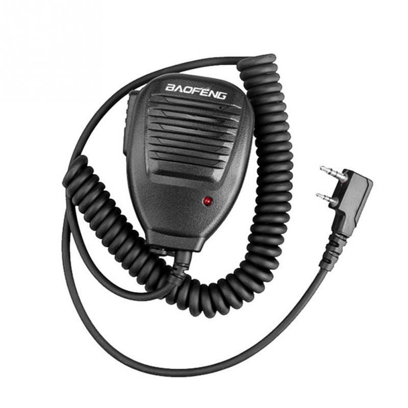 2020 novo 2 way alto-falante microfone para baofeng 888 s 5r 5ra uv82 8d 5re microfone microfone fone de ouvido rádio h21 interfone volta com clipe