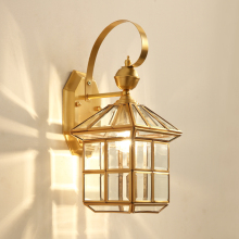 modern American style creative art deco LED wall lamp vintage outdoor copper garden lamp bar corridor lamp courtyard lamp E27